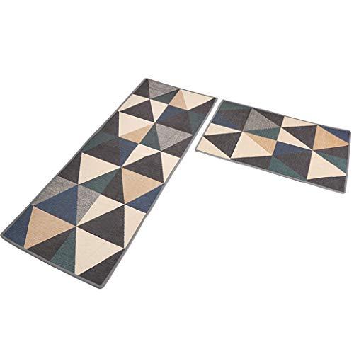 WLLOFG Huishoudelijke Keuken Lange Strip Mat Eenvoudige Moderne Ins Keuken Tapijt Deurmat Mat, Multi-stijl Keuze, 50 * 65cm+50 * 120cm