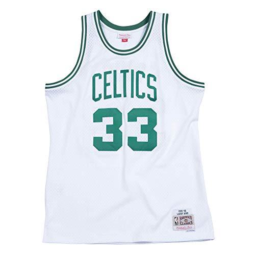 Mitchell & Ness Men's Boston Celtics Larry Bird 1985-86 Hardwood Classics White Swingman Jersey Small