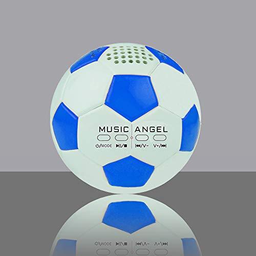 Music Angel JH-ZQBT3 - Mini vaso de fútbol estéreo con altavoz Bluetooth (azul)