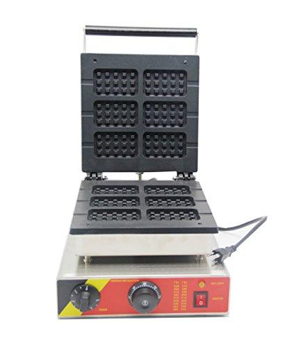 Hanchen NP-506 6 Waffelbackmaschine für gewerbliche Waffeleisen, elektrisch, mit Antihaftbeschichtung, 110 V / 220 V (rechteckig)