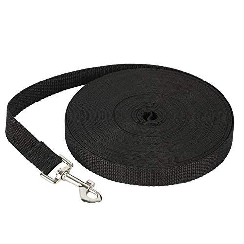 dingtian Correa de perro para perros y gatos, correa de nailon para perro, tamaño seleccionado, 1,5 m, 1,8 m, 3 m, 6 m, 10 m, arnés de seguridad al aire libre, 1,5 m, color negro