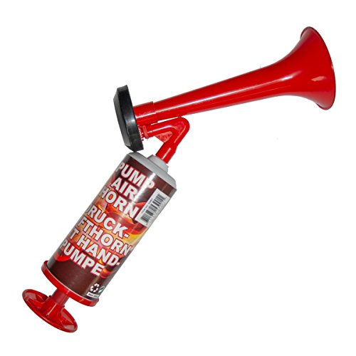 Diverse 1 x Drucklufthorn mit Handpumpe ohne Gas Party-Horn Deutschland Fanartikel WM EM