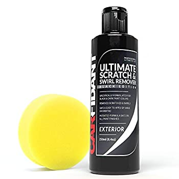 Carfidant Black Car Scratch Remover - Ultimate Scratch and Swirl Remover for Black and Dark Paints- Solvent & Paint Restorer - Repair Paint Scratches Scratches Water Spots! Car Polish Buffer Kit