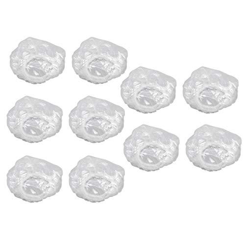 Lurrose 200pcs protège-tympans jetables transparents protège-oreilles imperméables couvre-bonnets de douche blancs
