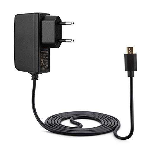 Aukru Caricabatterie Micro USB 5v 2A Alimentatore per Raspberry Pi 2 Model B / Pi B+ (Plus) , 1.5 metri