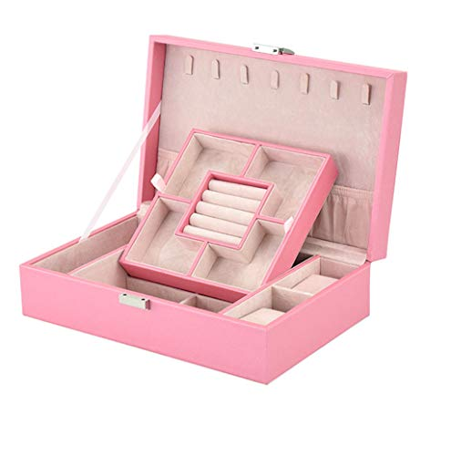 Jewelry Ring Display Organiser Case Tray Holder Earrings Storage Box Lint Organiser Display Box Birthday Gifts for Jewellery Organizer Lint (Color : #2)