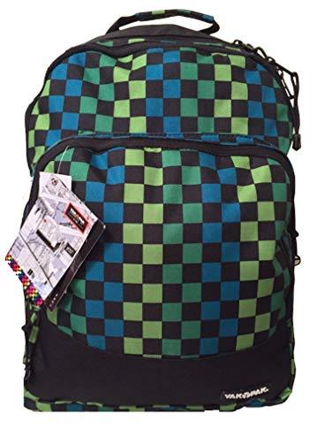 Yak Pak Empire Back Pack Turq/Green Check (KZ253-6482)
