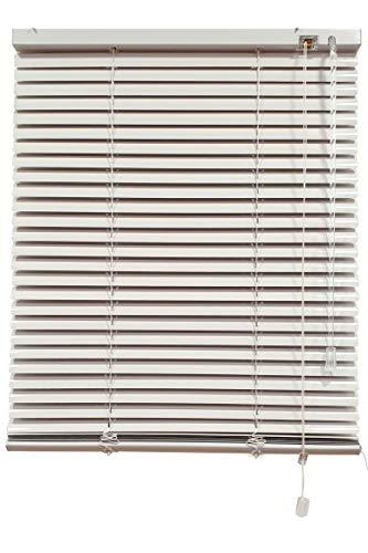 Decorestor Persianas Venecianas de Aluminio A TU Medida, Anchos de 36 a 240cm. Color Blanco. Venecianas Aluminio, Cortinas venecianas