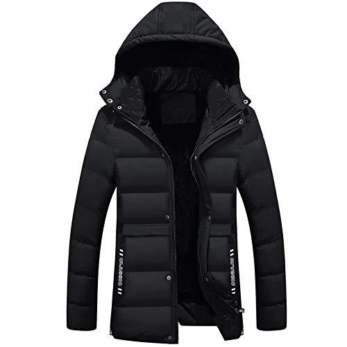 SLVVL Winter plus fluwelen dikke katoenen jas halflange capuchon mannen donsjack katoen