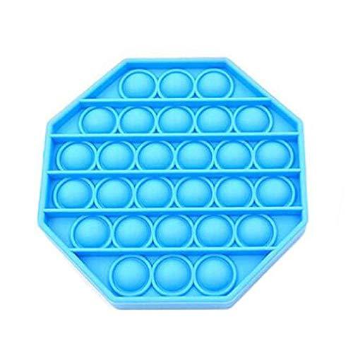 Juguete Octágono Push Pop Pop Bubble Juguete Sensorial Juguete Sensorial Apretón De Silicona para Aliviar El Autismo Alivio De La Ansiedad por Estrés