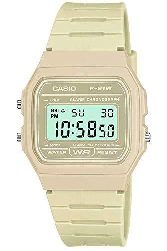 Casio Herren Digital mit Resin Armbanduhr F 91WC 8AEF