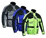 Warrior Gears 6 Pockets Mens Motorcycle Jacket, Textile Racing Motorbike Jacket, Hi-Vis Biker CE Armored Waterproof Jackets Mens (Lemon, 10XL)