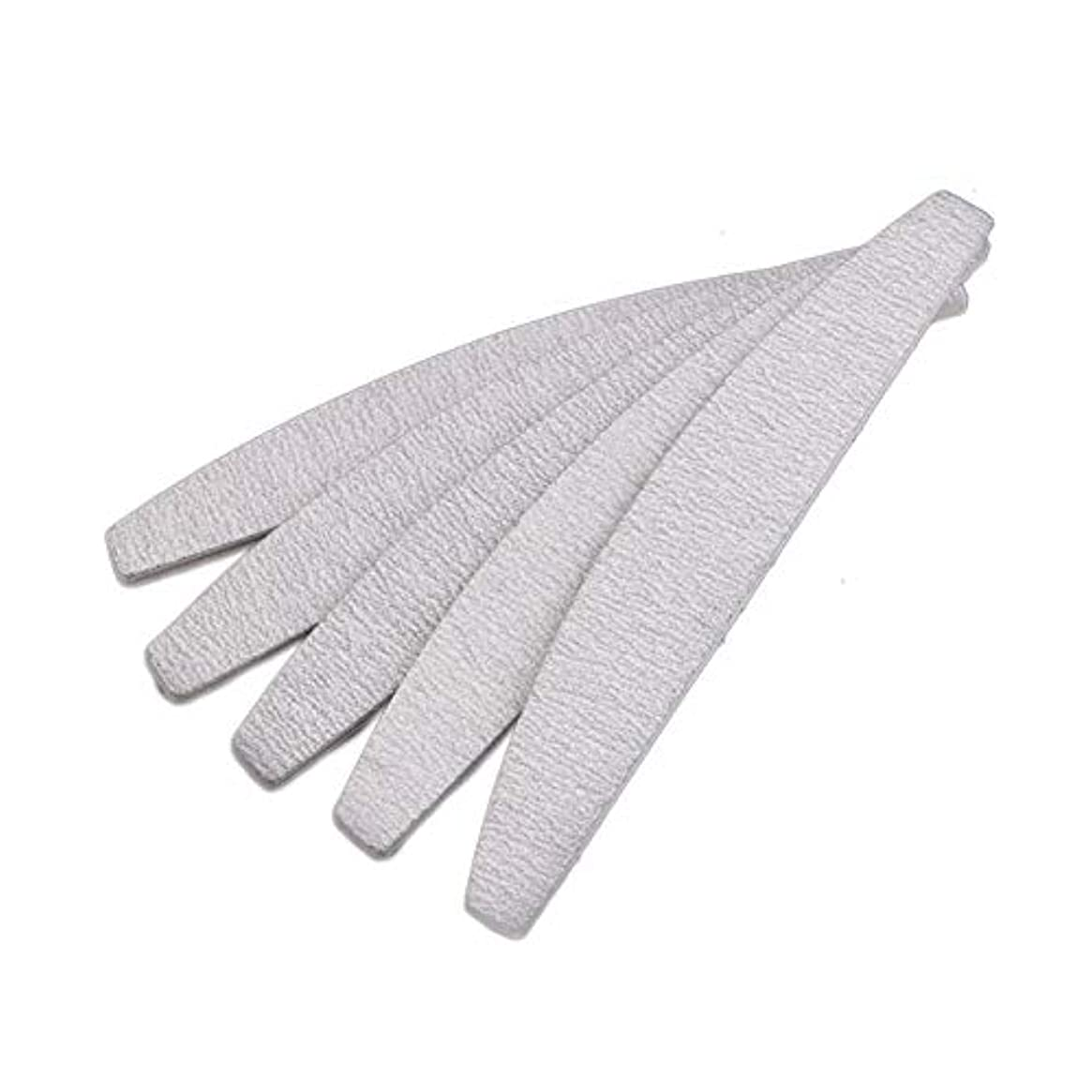 知性白菜クレアSODIAL 爪やすり ネイルファイル、D形、両面、灰白/オフホワイト、10個