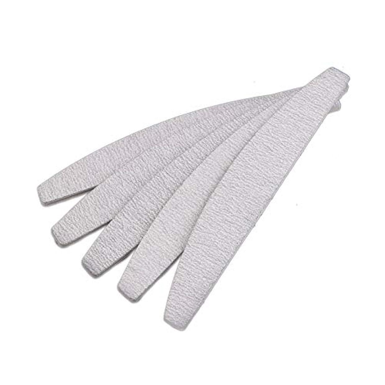 あなたは注ぎます明確なSemoic 爪やすり ネイルファイル、D形、両面、灰白/オフホワイト、10個
