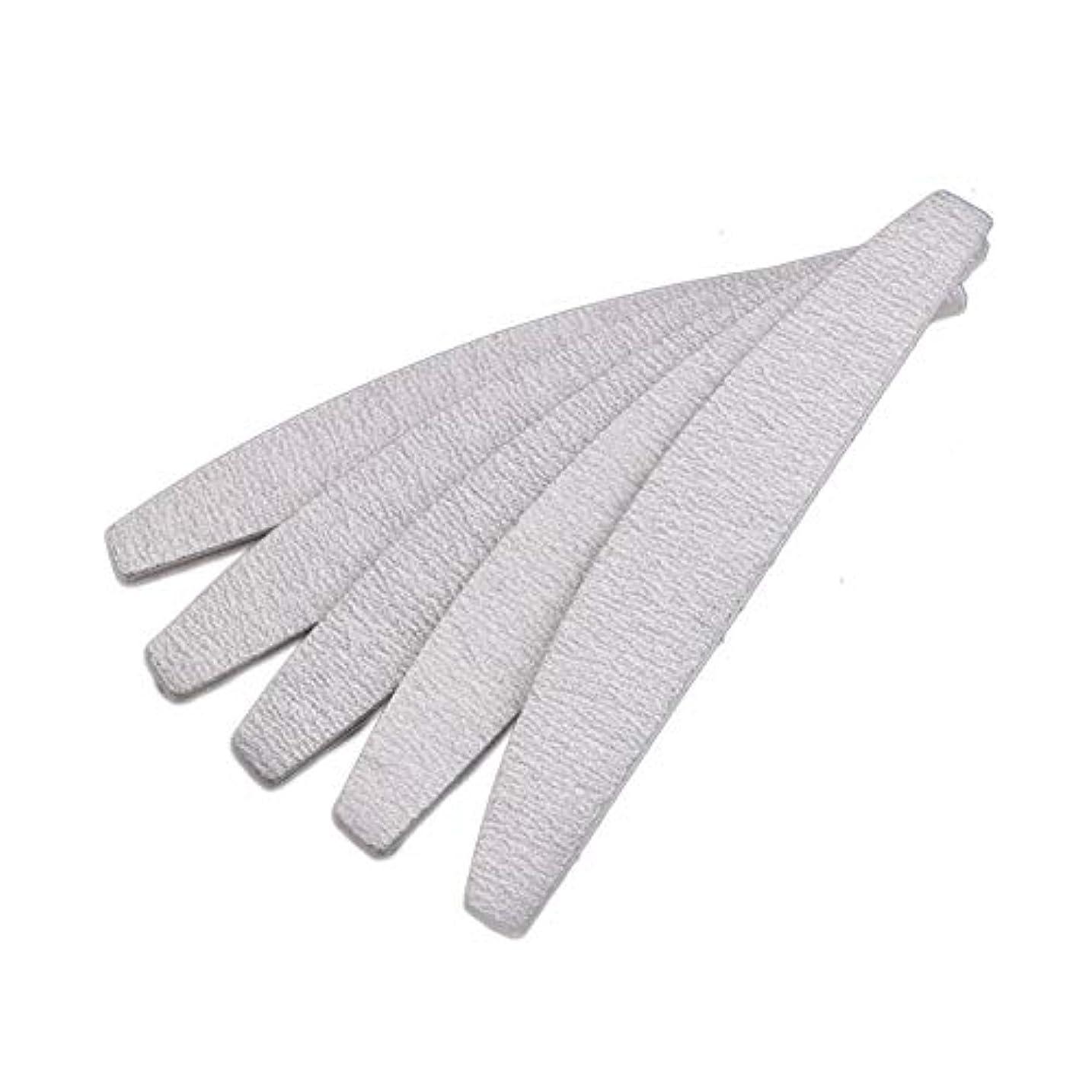 可塑性把握バスケットボールSemoic 爪やすり ネイルファイル、D形、両面、灰白/オフホワイト、10個
