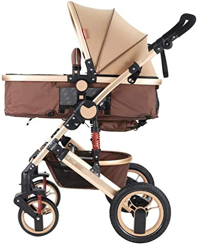Learn More About TZZ Baby Stroller with 5-Point Harness Convertible Reclining Foldable High View Pus...