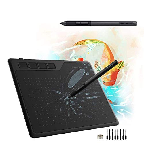 GAOMON S620 Pen Tablet & AP32 Pen- Graphics Drawing Tablet for Digital Drawing/ 2D 3D Animation/Annotating Signing/ Online Tutoring