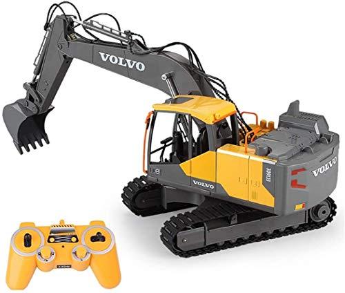 VanFty 2.4G RC Excavator Ingeniería De Ingeniería Juguete Control Remoto Excavador De Automóviles Navvy Engineering Truck Modelo Modelo De Camión De Todos Los Terrain Impermeable Toys Trucks For Boys