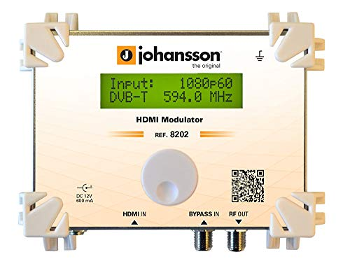 Johansson 8202 digitaler HDMI-Modulator in DVB-C QAM/DVB-T COFDM Full HD HDCP