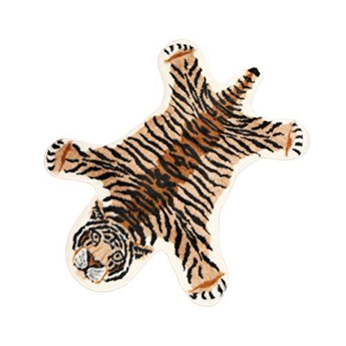 SUPVOX Tapis en fausse fourrure Motif léopard 80 x 105 cm, Polyester, tigre, 80*105cm