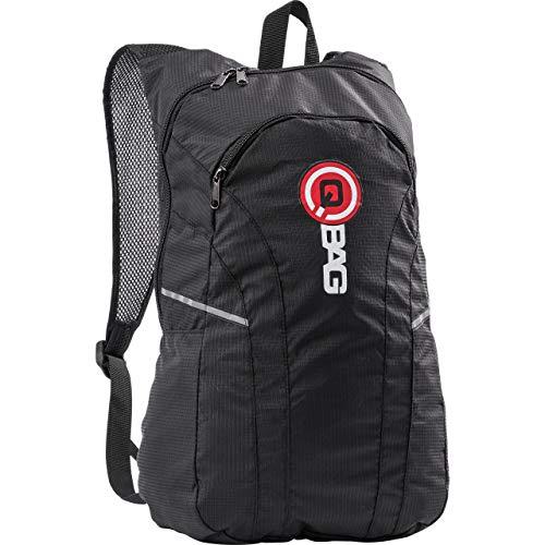 QBag Motorrad Rucksack Herren und Damen Fahrradrucksack Daypack Falt-Rucksack 13 Liter schwarz, Unisex, Multipurpose, Ganzjährig, Textil