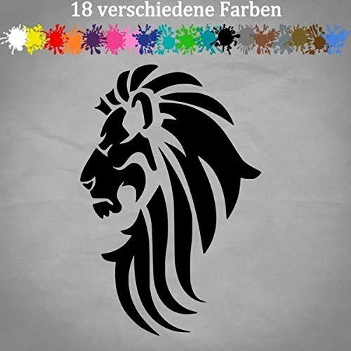 Tribal Löwe 18x12cm Aufkleber Deko Sticker Kleber Tattoo Tätowierung 18 Farben 70-Schwarz