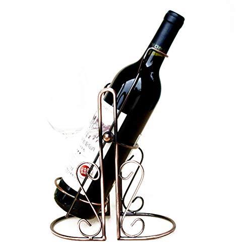 Botellero Metal Titular de La Botella de Vino Soporte de Exhibición para Bares, Decoración del Hogar, Adición Perfecta a Su Colección,1pc
