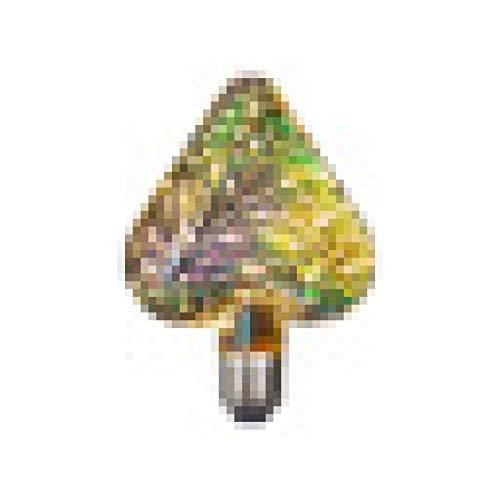 LANGYA 3D Bunte LED Edison Glühbirne E27 220V Vintage Feuerwerk Dekoration Glühbirne ST64 G95 A60 Weihnachten Ampulle LED Lampe Beleuchtung Heart