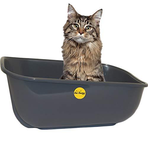 CatCentre® Extra Deep Large Cat Litter Tray Dark Grey Box Pan Toilet Loo...