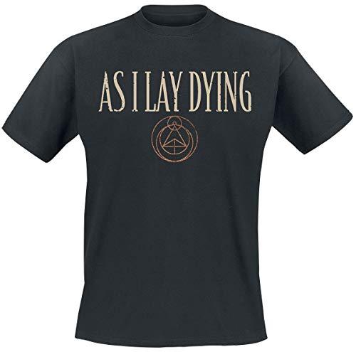 As I Lay Dying Skulls Männer T-Shirt schwarz S 100% Baumwolle Band-Merch, Bands, Totenköpfe