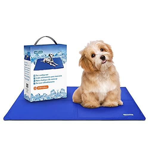 Nobleza - Alfombrilla refrescante para Mascotas Grandes. Auto refrigerante No tóxico. Ideal para para Perros, Gatos en Verano. 50 * 40 cm, Color Azul, S