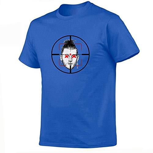 WEII T-shirt Rapper Eminem print korte mouwen T-stuk mode 3D bedrukt onderhemd unisex goede kwaliteit materialen Small blauw