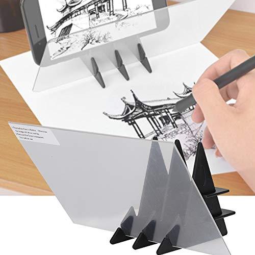 Tablero de trazado portátil, tablero de reflejo de dibujo de espejo de copia, herramienta de dibujo de dibujo fácil de arte de pintura, adecuado para niños, pintores y artistas junior, industria de la