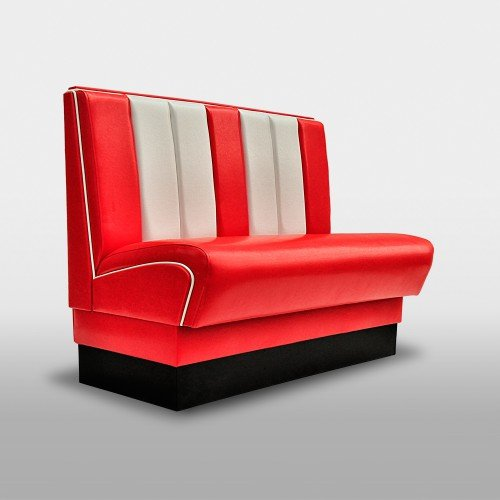 möbelland24 American Dinerbank Gastronomie Sitzbank USA Style 50er & 60er Jahre 120cm