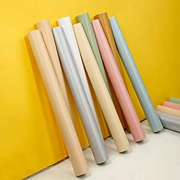 236x17.7 Silk Peel and Stick Wallpaper Removable Self Adhesive Wallpaper Home Decorative Covered Vinyl Film Cabinet Wallpaper Solid Color Contact Paper Shelf Drawer Liner Vinyl Wall Covering