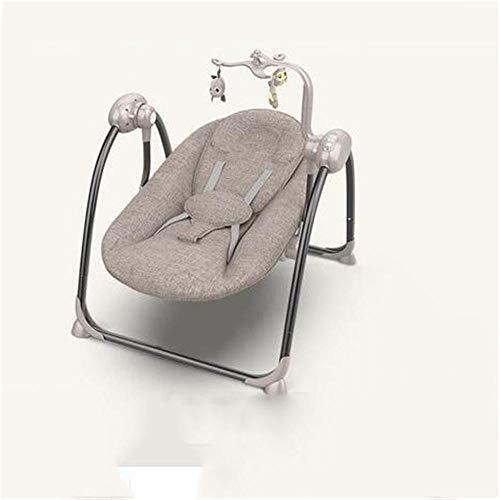 Sedia a dondolo sedia a dondolo elettrica per bambini sedia a dondolo automatica lettino pieghevole per accendisigari elettrico pieghevole sedia a dondolo-grigia