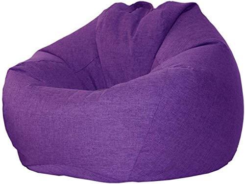 LHY- Lumière Canapé, Petit Appartement Lazy Sofa Bean Bag, Tatami Importé PPE Recliner Doux (Color : Purple, Size : 105×120cm)