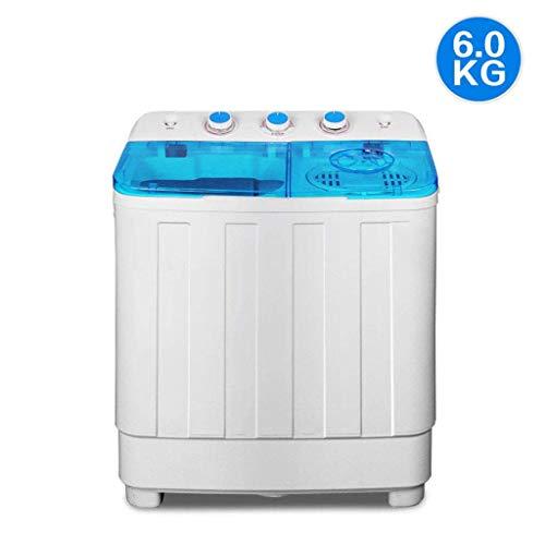 Wghz Mini Servicio de lavandería, Lavadora de Camping, Cargador Superior con función de Eslinga, Lavadora semiautomática compacta, centrifugadora con Bomba de Drenaje, Ahorro de energía y Agua, t