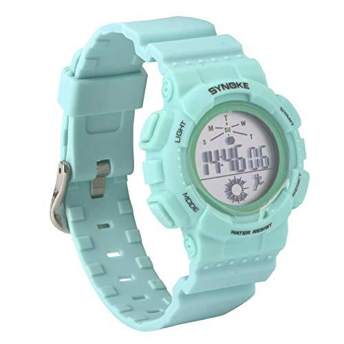 Reloj electrónico multifuncional para estudiantes para jóvenes adolescentes de todas las edades para niños juguetes regalo (verde lago)