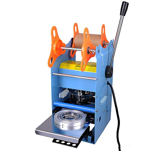 Yescom Manual Cup Sealing Machine 270W Electric Cup Sealer 300-500 Cups/Hr Milk Boba Tea Coffee Smoothies Sealer