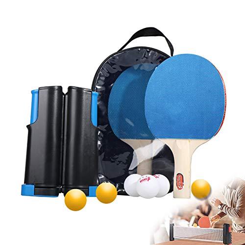 Juego De Tenis De Mesa, Accesorios De Tenis De Mesa Retráctil Portátiles Red De Tenis De Mesa De Ping-Pong De La Raqueta, Adecuado para La Escuela, La Familia, Club Deportivo, Oficina