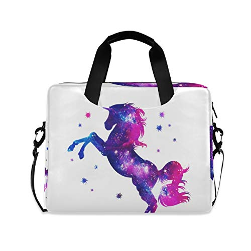 XIXIKO Unicorn Animal Cosmic Star Laptop Bag Expandable Trolley Briefcase Bag for Women Men with Detachable Strap for Work Trip Business MacBook iPad Travel