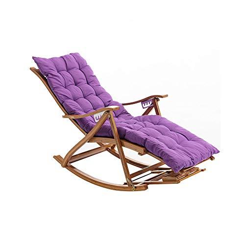 CJSWT Sillón reclinable reclinable relajación Descanso Asiento Relajante, Piscina de Playa Puesta de reclinable Plegable sillón de chaiseo Ajustable, Todo el Tiempo para Exteriores al Aire Libre