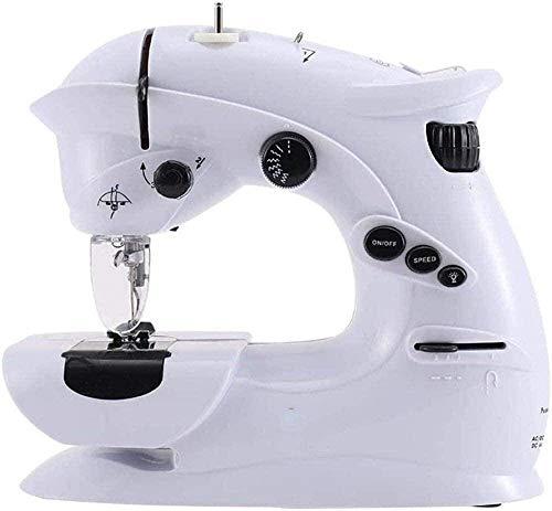 JWCN Mini Nähmaschinenfreier Arm Beste Nähmaschine für Anfänger Tragbare Desktop-Elektro-Nähmaschine für DIY-Stoff für Stoffkleidung Familienreisen Uptodate