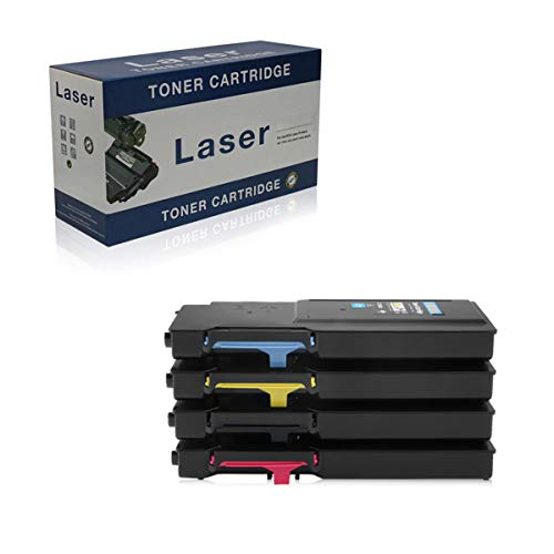 Compatible Toner Cartridges Replacement for Dell C2660 593-BBBU 593-BBBQ 593-BBBT 593-BBBS for Use with Dell C2660 C2660DN C2665DNF Printer,4-Pack,4P