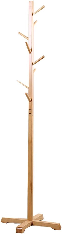 Coat Rack Coat Rack Stand,Coat Rack Coat Hat Stand Garment Rack, Modern Simplicity Floor-Standing Coat Rack, Wood Combination Hanger Living Room Bedroom Study,D,50  50  177cm