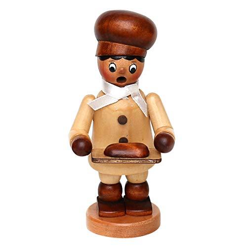 Dekohelden24 Wunderschöner Räuchermann als Bäckerkind mit Brot, ca. 13 cm