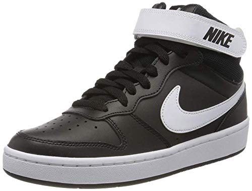Nike Herren Court Borough MID 2 (GS) Basketballschuhe, Schwarz (Black/White 010), 39 EU