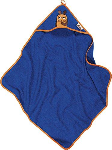 Playshoes Kinder Frottee Kapuzen-Handtuch, praktisches Kapuzentuch für Jungen, mit Maus-Stickung