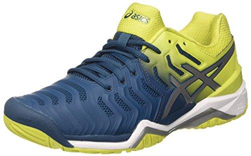 ASICS Gel-Resolution 7, Scarpe da Tennis Uomo, Blu (Ink Bluesulphur Springwhite 4589), 41.5 EU